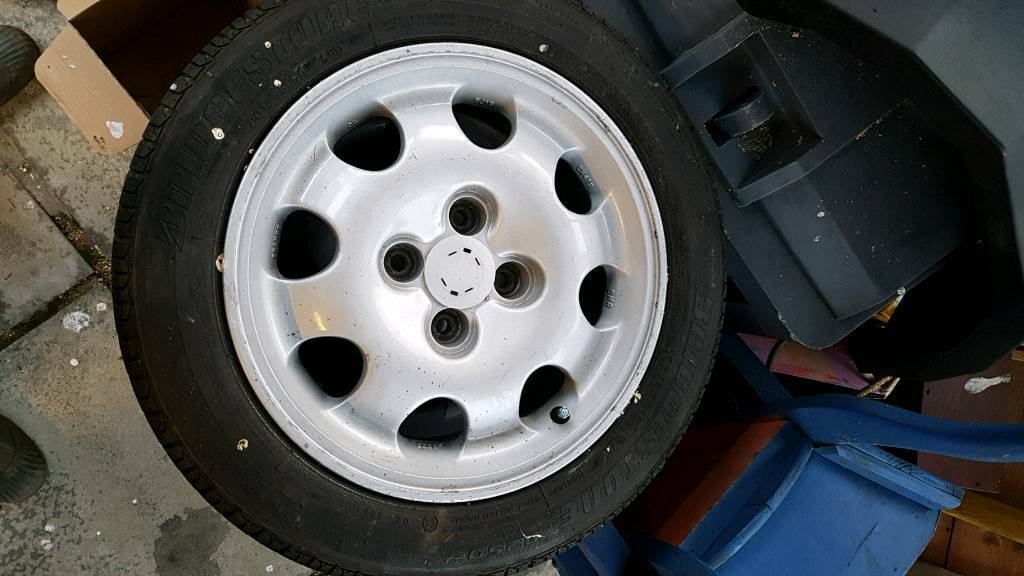 "Peugeot 205 1.9 GTI 15"" Genuine Alloys & Tyres x 4"