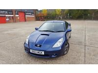 Toyota Celica 2001 1.8 VVT-i 140BHP Blue Leather interior