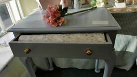 Refurbished vintage hall table