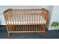 Baby cot bed with mattress