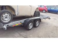 CAR TRANSPORTER CAR TRAILER TWIN AXLE ** TILT/SLIDE/WINCH ** BRIAN JAMES IFORWILLIAMS recovery truck
