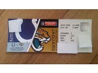 NFL Aisle Seat Ticket x1 for Indianapolis Colts Vs Jacksonville Jaguars Jags @ Wembley London UK