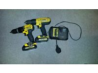 DeWALT DCD776 18V and DCD785 CORDLESS DRILL DRIVER x2 BATTERY ,CHARGER