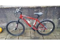 APOLLO FEUD 18 SPEED, 17 INCH MOUNTAIN BIKE FOR SALE, LIKE NEW.