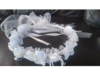 Bride Flower Headband Crown Pin Communion Party Princess Girl Floral