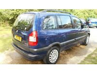 VAUXHALL ZAPHIRA 7 SEATER ONE LADY OWNER