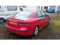 Red 2003 Saab 9-3.Good condition with only 89000 miles.
