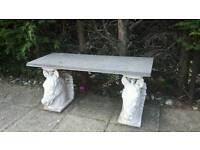 Marble horse bench