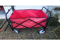 Foldable Garden Trolley Red