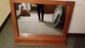 Laura Ashley Oak Mirror with in built shelf
