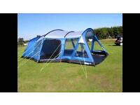 KAMPA BAMBURGH 6 MAN LARGE FAMILY TENT & FOOTPRINT & CARPET