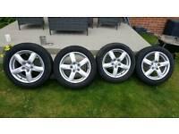 Vauxhall alloy wheels.