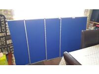 4 x Blue notice boards est 3' x 2' in size at a guess