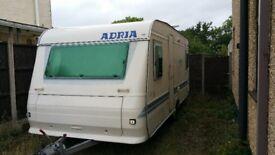 Adria 502 up Caravan 4 berth. Great caravan. Fixed separate bedroom. with microwave, TV, dvd player