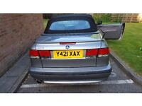 Saab 9-3 convertible. 2001 good runner, hardly used. Family commitment hence sale.