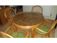Glass top Dinning table and 4 chairs