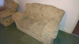 3 piece suite, 2 seater sofa and 2 armchairs
