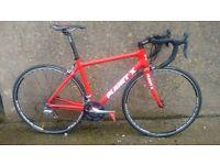 Medium Planet X Upgraded Carbon Fibre road Bike CF racing Ultegra Ksyrium Wheels