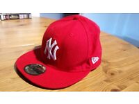 New York Yankees New Era 59Fifty Size 7 Purple & Red, both Genuine