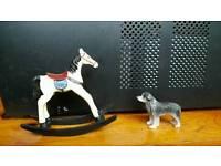 Dolls House Emporium Rocking horse and Dog
