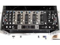 Denon DN-D4500 Pro DJ CD MP3 Player / Denon DN-X500 Mixer + flight case & cables