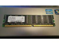 Infineon 512MB DDR PC3200U 400MHz DIMM 184-pin