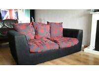 Black and Red Sofa