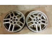 2x Alloy wheels Vauxhall Vectra B Sri