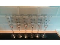6 Champagne glasses
