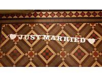 Just Married Banner wedding