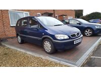 Vauxhall zafira 1.6,7 SEATS,LONG MOT,SERVICED,highly maintained, CAMBELT DONE,2 KEYS,NO ISSUES.