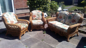 3 piece Wicker Garden, Patio, Conservertory Furniture