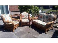 3 piece Wicker Garden, Patio, Conservertory Furniture