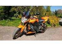 Yamaha FZ8 in Pearlescent Sunburst Orange