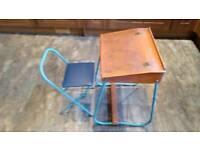 Vintage infant desk and chair