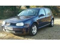 VW GOLF GT TDI PD(130BHP) 2002 *12 MONTHS MOT* 5 Door-TURBO DIESEL- Air Con/Alloys/Immaculate Golf!!