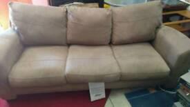 Three 3 Seater Sofa fabric