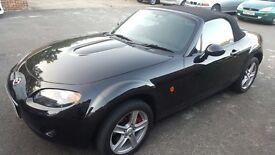 Mazda MX5 Black, MOT March 18