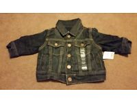 BRAND NEW Gap soft denim jacket 0-6 months
