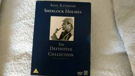 SHERLOCK HOLMES DEFINITIVE COLLECTION 14 CLASSIC FILMS. 7 DVD BOX SET.