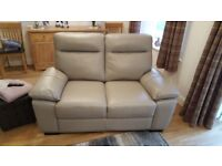 2x 2seater leather settees grey / taupe. 3 months old like brand new. £250 each £500 for both.