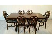 """""""JC"""" Solid Wood Dining Table and 6 Chairs 001"""
