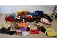 Job lot of 40 ladies handbags car boot sale