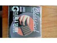 Classical Guitar Strings Clear & Silver