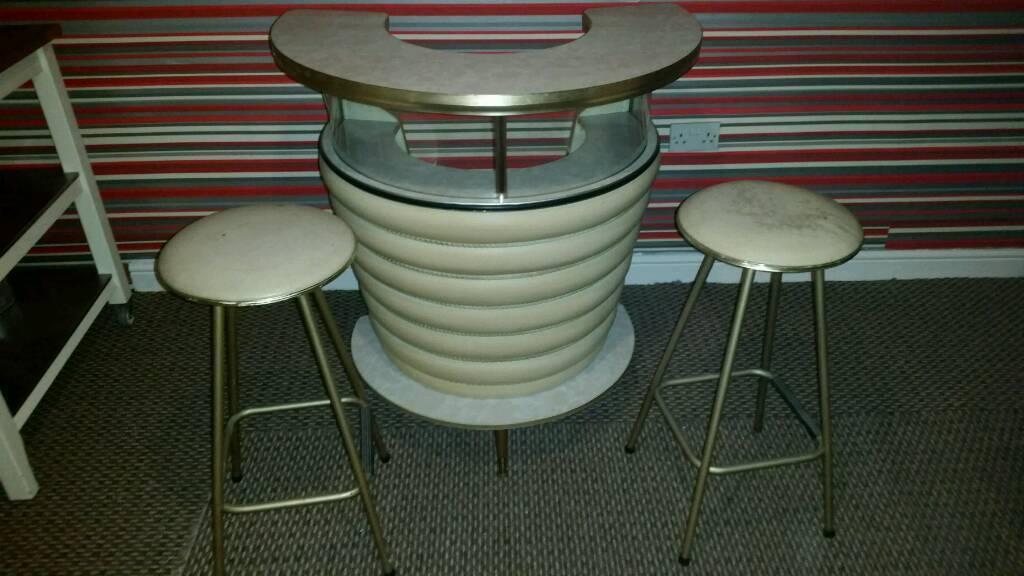 Vintage Umberto Mascagni design 50's/60's cocktail bar.