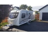 2012 Swift Conqueror 645 with Kampa Rally 390 Awning