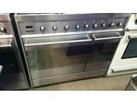 Smeg 90cm induction range cooker used twice !!