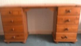 Pine dresser for sale has space for footstool