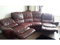 oxblood leather sofa in good condition