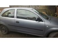 silver vauxhall corsa 2003 model spare and repair
